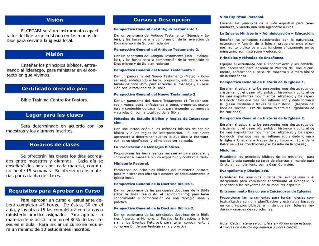 Cecabi Brochure
